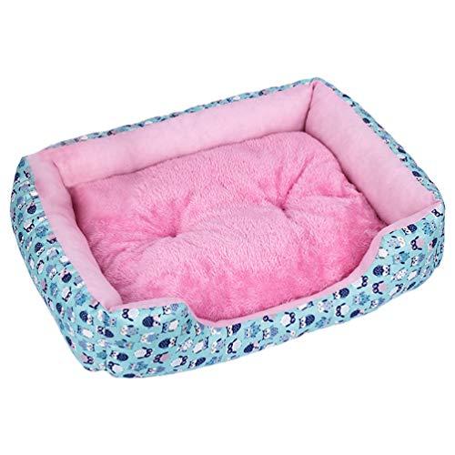 Feidaeu Haustier Bett Mat Kennel Rest Matratze Wasserdicht Atmungsaktiv Weich Komfortabel Und Langlebig Warm Plüsch Nest Für Kleine Mittelgroße Hunde