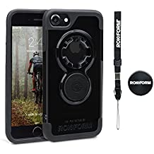 Rokform iPhone 8/7 Case Crystal Cases with Magnetic Car Dash Mount (Crystal Black)