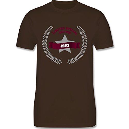 Shirtracer Geburtstag - 1993 Limited Special Edition - Herren T-Shirt Rundhals Braun