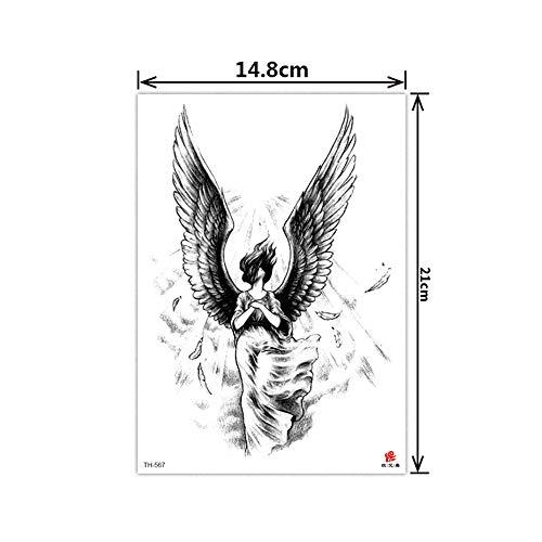 rdichte und umweltfreundliche Blume Arm Tattoo Aufkleber halb Arm große Blume Arm System Tattoo561-6003Pcs-17 ()