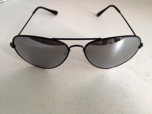 Schwarz Rahmen-Spiegelscheibe Top Gun Aviator Stil Sonnenbrille Unisex verspiegelt Wayfarer Fashion Shades Elegant