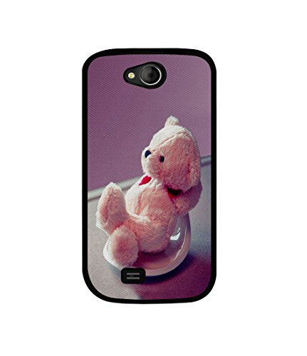 Casotec Cute Teddy Bear Design Canvas Printed Soft TPU Back Case Cover for Micromax Canvas Elanza A93  available at amazon for Rs.349