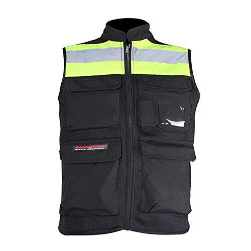 LKN, giacca da moto in tessuto armour, catarifrangente
