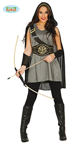 Bogenschütze Kostüm für Damen Karneval Fasching Party Wald Bogen Schütze Gr. M-L, (Robin Erwachsene Kostümen Wald Hood)
