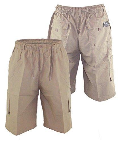 Duke Herren 's großes Cargo Shorts mit geformtes Bein Taschen Sand