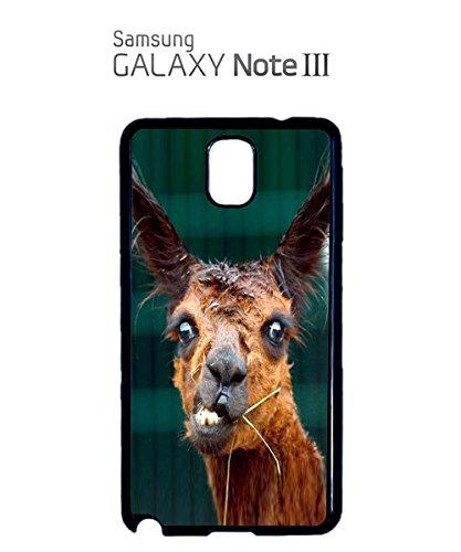Llama Lama Ugly Funny Face Angry Cute Men Mobile Phone Case Samsung Note 2 Black Noir