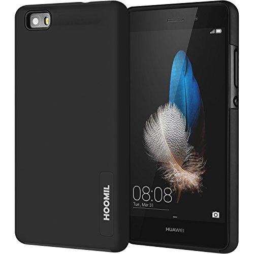 P8 Lite Hülle, HOOMIL Schutzhülle Stoßfest Case für Huawei P8 Lite (5,0 Zoll),Schwarz