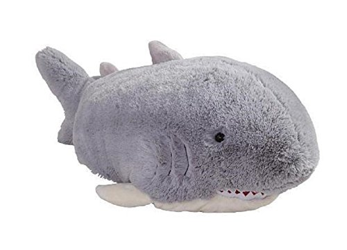 Pillow Pets Grey Pillow Pet- PeeWee Shark - 11