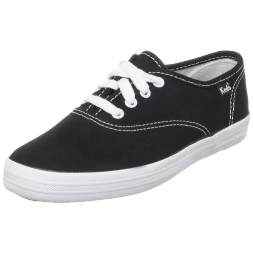 Keds Kids Keds Ch CVO kt30060 - Zapatos para bebé de cuero para niña, color negro, talla 8.5 Child UK