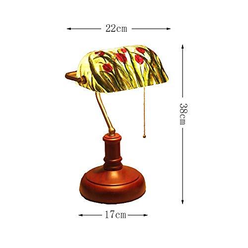 GBX Kreative Augenschutzlampe, 9 Pollici Tiffany Stile Tavolino Lampada Retro Retro Retro-Lampe von Lucia Dekorative Ufficio Cafe Studio-Kamera Da Letto Lampade Da Comodino