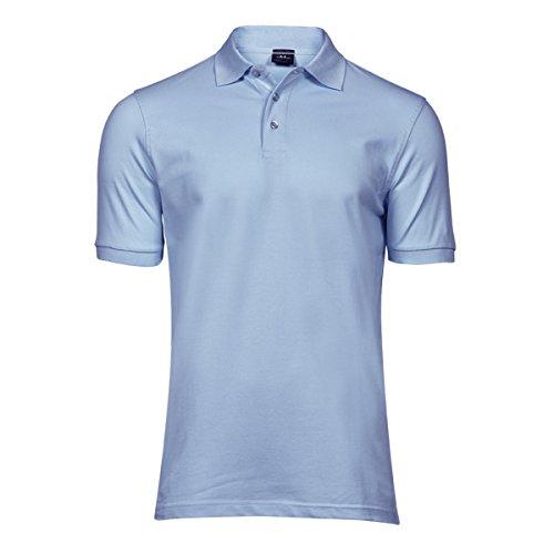 Stretch-streifen-polo-tee (Tee Jays Herren Luxury Stretch Polo-Shirt, Kurzarm (XL) (Hellblau))