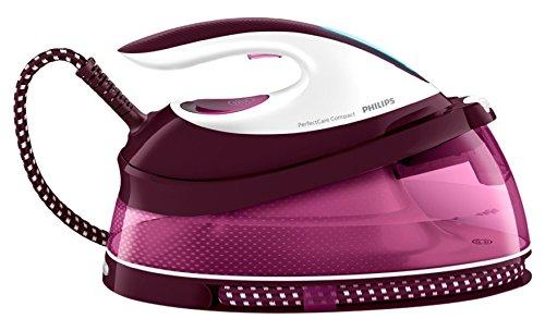 Philips GC7808 2400W 1.5L SteamGlide soleplate Púrpura, Color blanco - Centro de planchado (SteamGlide soleplate, 1,8 m, 120 g/min, 1,5 L, 30%, 1,2 kg)