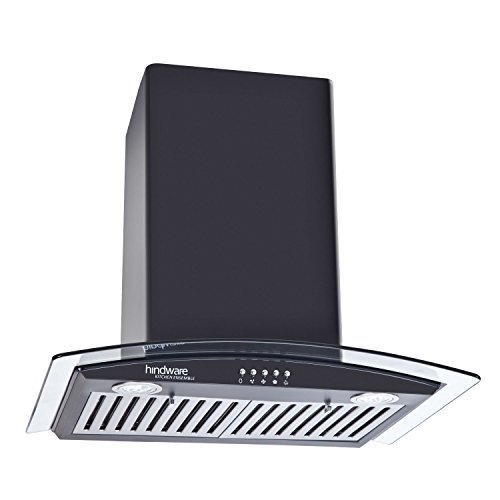Hindware Stainless Steel Kylis 60 Cooker Hood Chimney (600mm, Black)