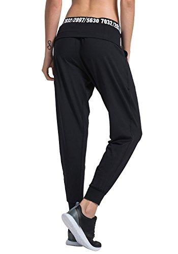 Matymats Women's Harem Pants Sport Yoga Trousers Gym Pilate Workout Joggers Sweatpants with Pocket