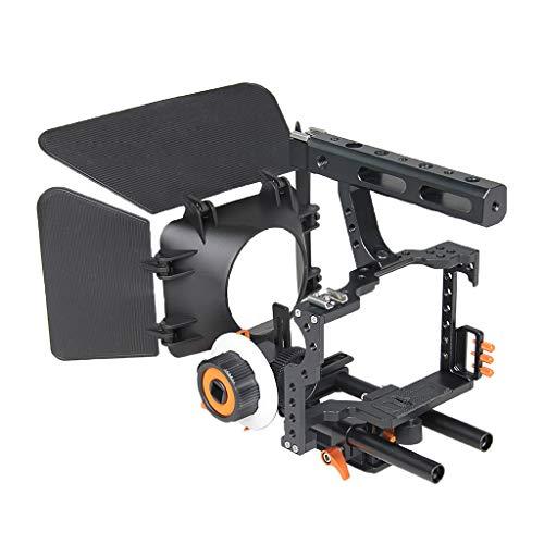 H HILABEE Film Film Video Making System Kit Für Sony A7 A7r A7s Serie DSLR Kameras 15mm Rod Rig Mit Griff Matte Box Und Folgen Fokus (# 2) -