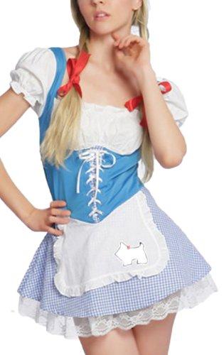 spass42 sexy Dirndl Heidi Trachten Damen Kleid Kostüm Karneval Oktoberfest Groesse: S/M