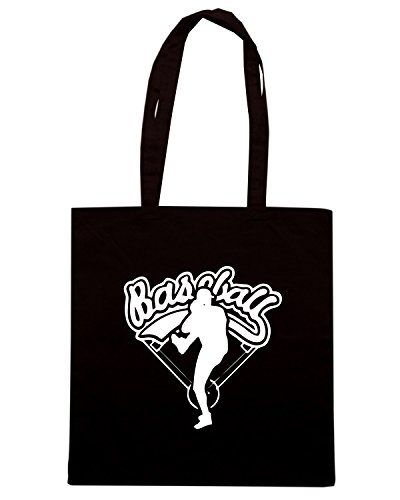 T-Shirtshock - Borsa Shopping SP0012 Baseball Logo T-shirt Premium Nero