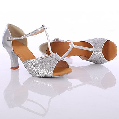 Silence @ Chaussures de danse pour femme Paillettes Paillettes latine/danse Sneakers talons Talon intérieure/performances Silver
