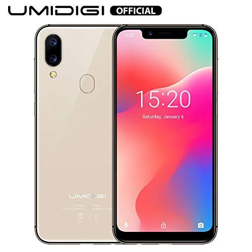 Smartphone Offerta del Giorno, UMIDIGI A3 Pro 5.7 Pollici(19: 9), Triplo Slot 2 Nano SIMs+1 MicroSD, Quad Core 3GB+16GB, Cellulari Offerte Android 9.0 Pie, Batteria 3300mAh, Fotocamera 12MP+5MP - Gold