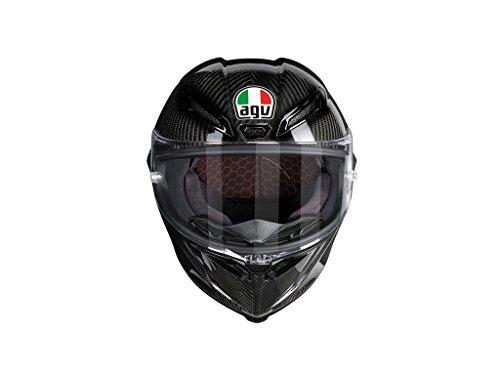 AGV Casco Moto Pista GP R E2205Solid plk, Glossy Carbon, S