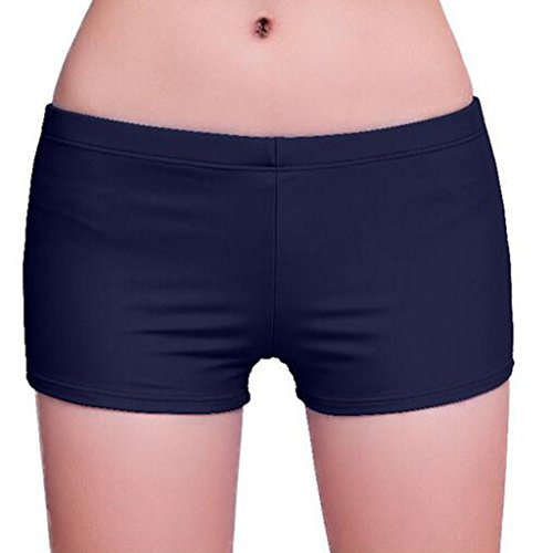 GWELL Damen UV Schutz Wassersport Schwimmen Bikinihose Badeshorts Schwimmshorts Dunkelblau