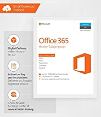 Microsoft Office 365 Home- 5 PC or 5 Mac + 5 Tablets, 1 Year (Email Delivery in 2 hours - No CD)