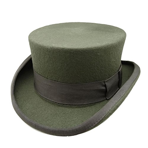 HATsanity Unisex Annata Feltro di lana Formale Smoking Breve Cappello Topper Grigio