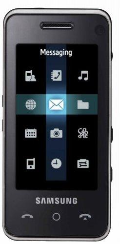 Samsung SGH-F490 UMTS-Smartphone mit Touchscreen (Triband, EDGE, 5MP-Kamera, microSD-Kartenslot) schwarz