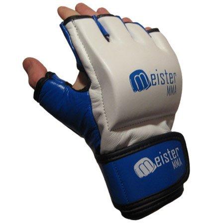 MMA Handschuhe, 200 g, Weiß/Blau,