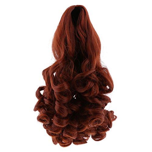 ge Lockigen Puppe Haar Perücke Für 18 Zoll Mädchen Puppen DIY Machen Zubehör - Rot (Lockigen Roten Perücke)