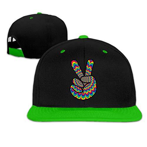 Kostüm Lady Psychedelic - cvbnch Baseball Caps für Herren/Damen,Psychedelic Peace Hippie Unisex Hiphop Flat Brim Snapback Hats Women Men Adjustable Baseball Cap Golf Cap