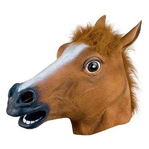 JYYC Silvester Pferdekopf Maske Tierkostüm n Spielzeug Party Halloween 2018 Neujahr Dekoration-Schokolade