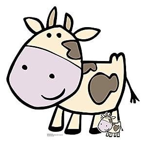 StarCutouts Ltd SC1442 - Recorte de cartón de Vaca para Fiestas, Eventos, Decoraciones de Mesa y cumpleaños, Multicolor