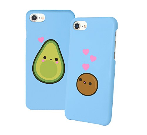 Avocado and Bone in Love Missing Part Beziehung Relationship Freundin Girlfriend Liebe BFF Bae Best Friends Love Schutzhülle aus Hartplastik Phone Case Handy Hülle Für iPhone 6 6s 7 7plus 8 X -