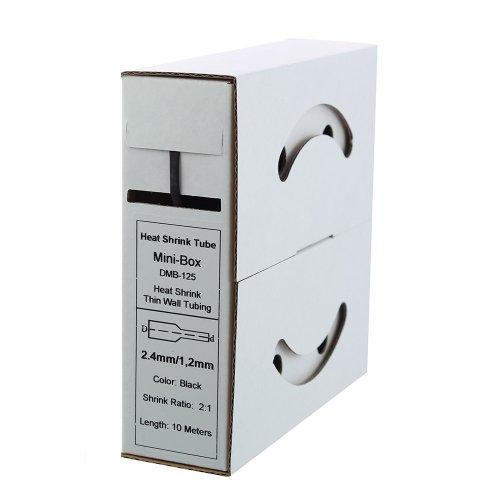 10m Schrumpfschlauch 2,4mm > 1,2mm schwarz Test
