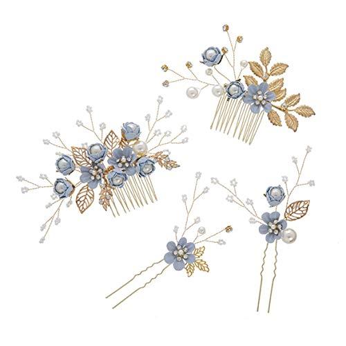Kongqiabona Blumen-Haar-Kamm-Brauthochzeits-Haar-Dekoration vorzügliche Headwear-Hochzeits-Schmuck-Hochzeits-Kleid-Zusätze - Kleid-haar-kämme