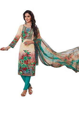 LIVE DIVA Crepe Printed Salwar Suit Dupatta Material(Un-stitched)