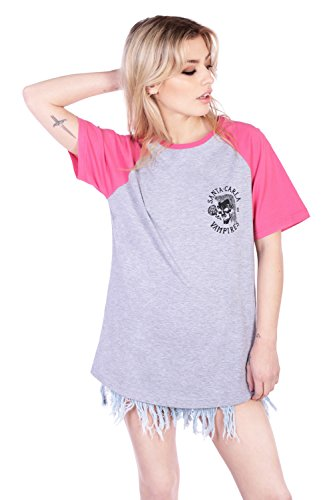 Disturbia Clothing -  T-shirt - Donna grigio XX-Large