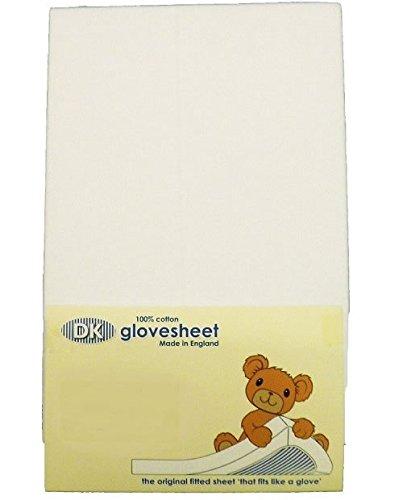 DK Glovesheets-Sábana bajera dos color blanco sábana ajustable 83x 50cm cuna hojas 100% peinado algodón-específicamente diseñado para adaptarse a la siguiente to Me colchón-2unidades