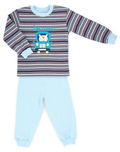 Makoma Baby giovani Pyjama pigiama 2pezzi in maglietta a maniche lunghe e pantaloni (80-104) Brum 12 mesi