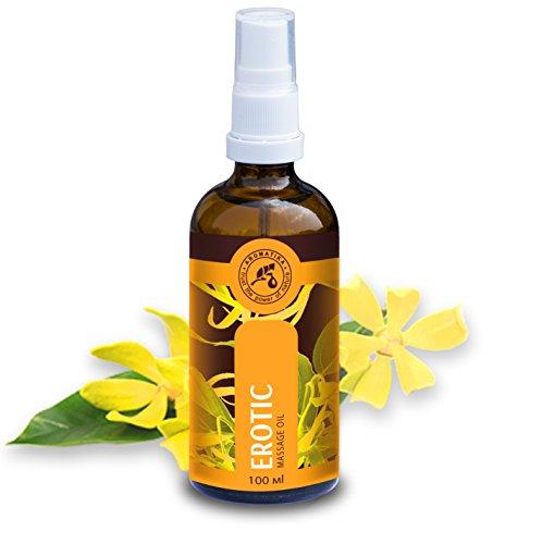 Massageöl Erotik, Liebesöl mit 100 % natürlichem Ylang Ylang Öl und Jojobaöl , Erotiköl mit herrlichem Duft, Massageöl Aphrodisisches 100 ml, Glasflasche, Naturkosmetik, Massageöle von AROMATIKA