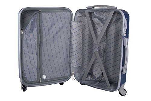 41F%2BBtjaGEL - 3 Maletas rígidas PIERRE CARDIN azul 4 ruedas cabina para viajes VS21