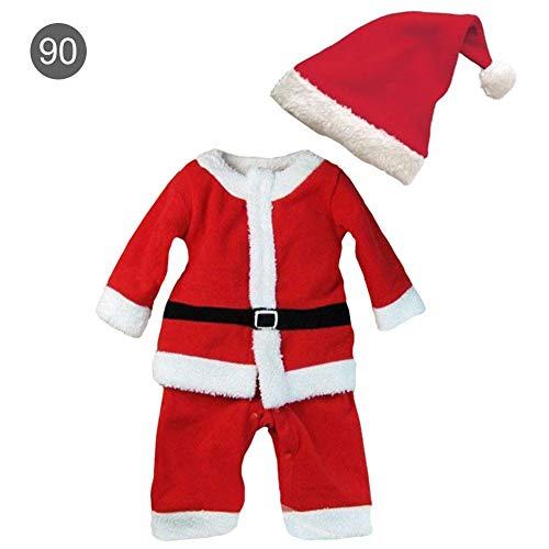 yanyaoo Kinder Weihnachtskostüme Spielkleidung Set Weihnachtsmann Kostüme Rollenspielkleidung Spielkleidung Schöne Baby Kinder verkleiden Sich für Jungen und Mädchen