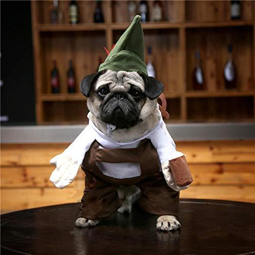 NiQiShangMao Cosplay Hundebekleidung Für Kleine Hunde Winter Bulldog Jacke Cartoon Hund Halloween Kostüm Chihuahua Pet Kleidung
