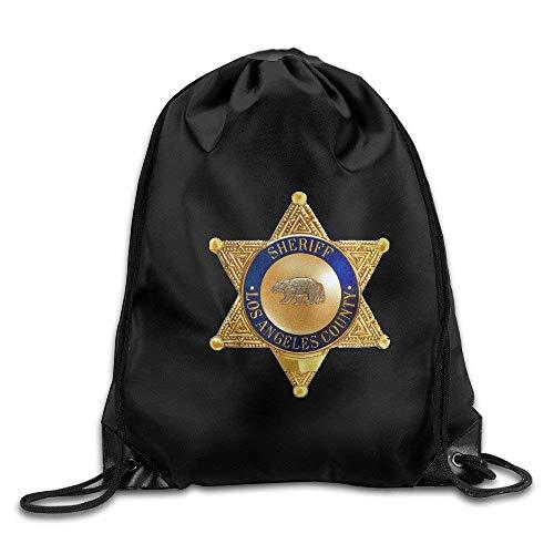 shuangshao liu Los Angeles County Sheriff Drawstring Tasche Travel Daypack