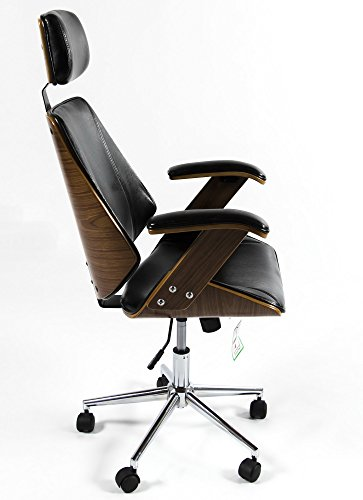 Charles Jacobs Luxury Retro Office Chair In Black Faux