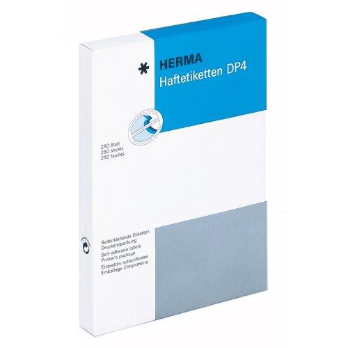 Preisvergleich Produktbild Herma 4550 Haftetiketten (für Druckmaschinen DP4, 70 x 102 mm) 2000 Stück weiß