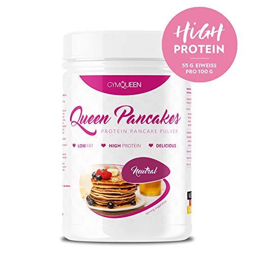 GymQueen Protein Pancakes 500g | Backmischung für leckere Protein Pfannkuchen und Waffeln | Zuckerarm & wenig Fett | Pancake Mix mit 55{eb5d88d4dd2fcbb54d0e2ed0ec55595315a09eb0ccc8b0fdb870223d7f5b02af} Eiweiß | einfach und schnell zubereitet | Neutral