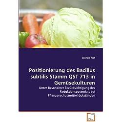 Positionierung des Bacillus subtilis Stamm QST 713 in Gemüsekulturen: Unter besonderer Berücksichtigung des Reduktionspotentials bei Pflanzenschutzmittelrückständen