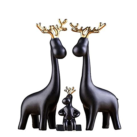 Lwcx Ceramic Ornaments Gold Decorations Home Furnishing Deer Antlers